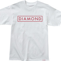 Diamond Future Tee Large White/Red