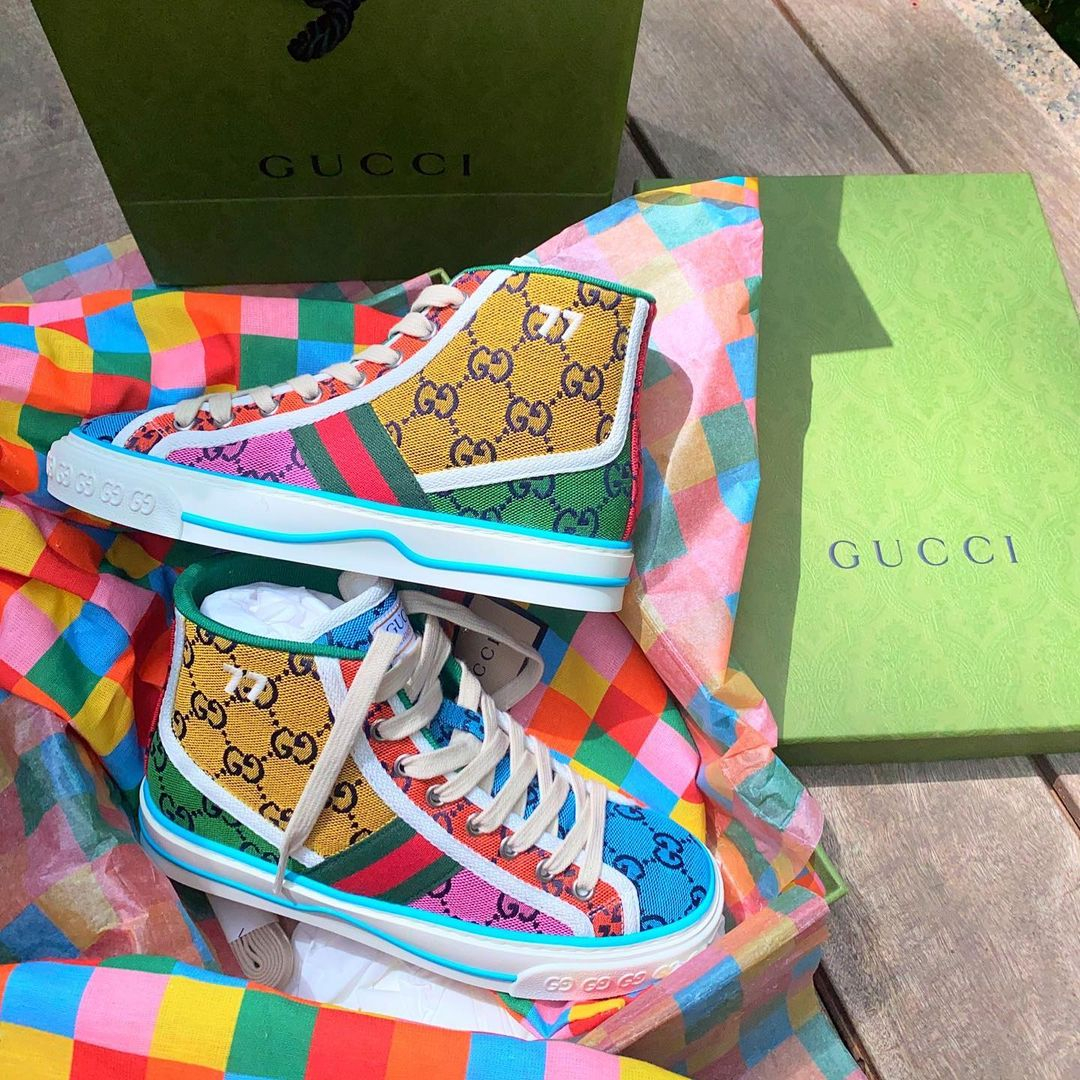 Image of GG Tennis 1977 High Top Multicolor Sneakers Shoes