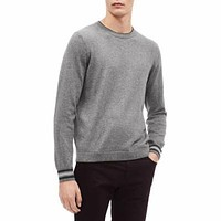 Calvin Klein Mens Tipped Sweater - Gray Size Large.