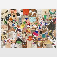 Cat Millinery Mania Jigsaw Puzzle by amayab on BoomBoomPrints