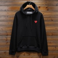 One-nice™ Comme des garçon play: Fashion Hooded pullover Sweatshirt
