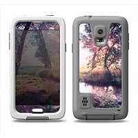 The Vivid Colored Forrest Scene Samsung Galaxy S5 LifeProof Fre Case Skin Set