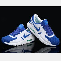 Nike Air Max Casual Sports Shoes Suitable for men and women Sneakers (white blue hook) H-MDTY-SHINING