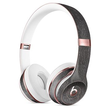 Black Grunge Acid Washed Surface Full-Body Skin Kit for the Beats by Dre Solo 3 Wireless Headphones