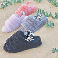 """""""UGG"""" Hight Quality Winter Fashionable Women Warm Fluff Yeah Slippers Shoes I/A"""