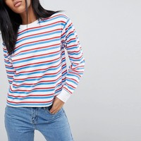 ASOS Long Sleeve Stripe With Crew Neck at asos.com