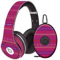 Purple Tribal Decal Skin for Beats Studio Headphones & Carrying Case by Dr. Dre
