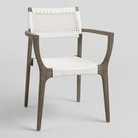White Nautical Rope Rapallo Outdoor Armchairs Set of 2