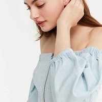 BDG Off-The-Shoulder Zip Blouse - Urban Outfitters