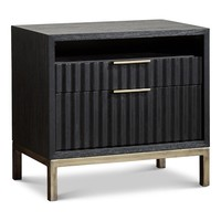Westmont Nightstand BLACK/BRUSHED STEEL
