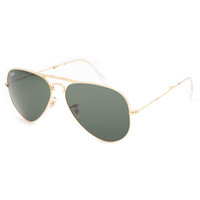 Ray-Ban Folding Aviator Sunglasses Arista/Crystal Green One Size For Men 22302962101