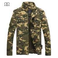 Air Force One Men Jacket Jean Military Camouflage Army Soldier Cotton Male Clothing Bomber Jacket Men Winter Jackets Coat 2018