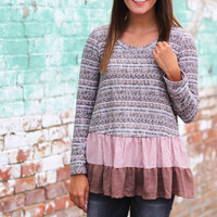 Ruffled Sweater Tunic {Olive}