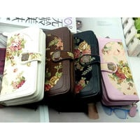 Floral Long Wallet