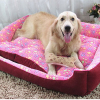 Footprint Dog Cat Rabbit Bed Union House Dog Beds cage playpen for Small/large Dogs Bed Mats Pet Blankets for Dogs