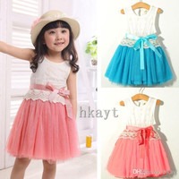 Children's Dresses/Baby Dresses/summer Sleeveless Cotton Lace Dress Princess tutu Skirt/Children's clothing