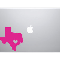 TEXAS HEART DECAL great for Cars Macbooks Ipads by OwlOutfitters