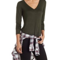 Classic V-Neck Tee by Charlotte Russe