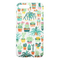 Colorful Cactus Flower Pattern Clearly Deflector iPhone 7 Plus Case