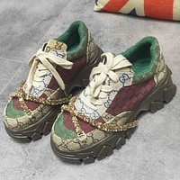 GUCCI New casual fashion all-match autumn women's shoes old shoes