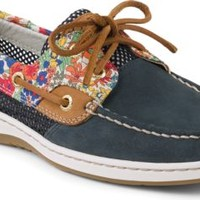 Sperry Top-Sider Bluefish Liberty Floral Print 2-Eye Boat Shoe Navy/BrightBlue, Size 5M  Women's Shoes