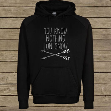 you know nothing jon snow Hoodie unisex adults Size S to 2XL