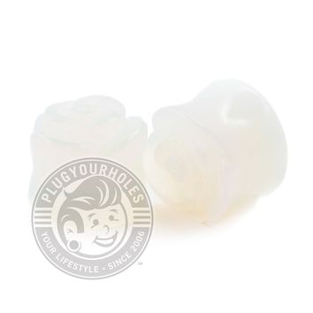 Opal Rose Cut Stone Plugs