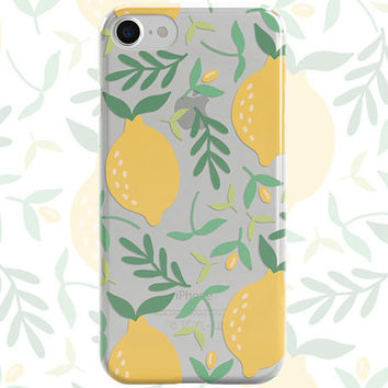 Clear Lemons phone case design for iPhone Cases, Samsung Cases, iPod cases, Galaxy cases, Note8 cases, Google Pixel Cases and LG cases