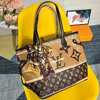 Louis Vuitton casual, stylish, colorful printed, high-volume, one-shoulder cross-body bag