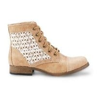 Women's Raleigh Tan Lace Combat Boot