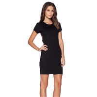 Black Bodycon Backless Dress with Cross Strap