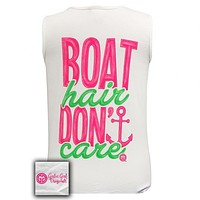 Sale Girlie Girl Boat Hair Dont Care Anchor Comfort Colors Tank Top
