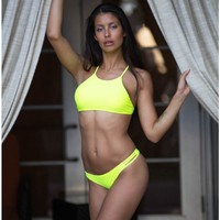 Lime Elena Top by Surf Style - Surf Style - Brands