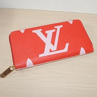 LV Louis Vuitton Classic Hot Sale Women Leather Zipper Wallet Purse