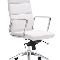 ZUOmod Engineer High Back Office Chair - Black, White or Espresso