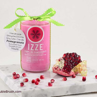 Eco Friendly Candle Izze Recycled Bottle - Pomegranate