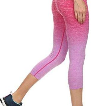 Ombre Activewear Yoga Capri Leggings