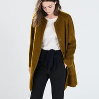 MOHAIR COAT WITH POCKETS