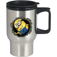 the minion cute For Stainless Travel Mug *