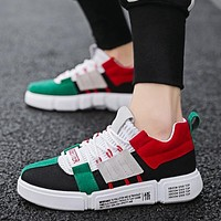 BomKinta Brand Designer Mixed Colors Casual Shoes Men Fashion Breathable Men Shoes Lace Up Sneakers Men Outdoor Male Footwear