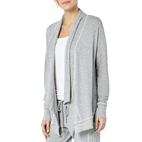 Open Front Cardigan , Heather Grey