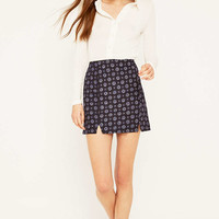 Urban Outfitters Notched Hem Star Print Skirt - Urban Outfitters