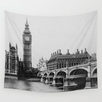 Vintage Big Ben, London-England Wall Tapestry by Snap 55