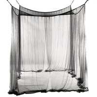 4 Corner Post Bed Canopy Mosquito Net Full Queen King Size Netting Black Bedding Home Decor