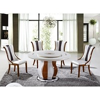 Modern Round Table Furniture With Chairs