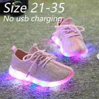 luminous sneakers for kid boy&girl size 21-35 slippers led light up shoes neon glowing sneakers children baskets led enfant
