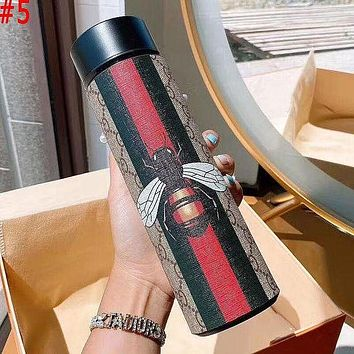 LV Louis Vuitton X MCM X Hermes GG Intelligent Digital Display Water Cup Temperature Measuring Thermos 304 Stainless Steel Male And Female Filter Tea Cup Thermos Colorful #5