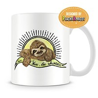 Live Slow Die Whenever Sloth Mug