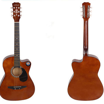 New Professional Acoustic Callaway Folk 38 inch  Guitar STAGE ESSENTIALS Brown