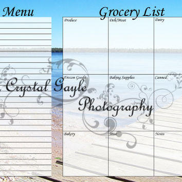 Magnetic Grocery List Menu Planner reusable erasable Gift For Mom Unique Fathers Day Gift For Him FREE SHIPPING